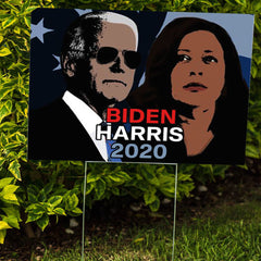 Biden Harris 2020 Yard Sign Democratic Party Support Biden For President Elect Political Sign
