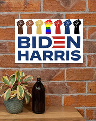 Biden Harris Poster LGBT Voting Biden Campaign 2020 Support BLM Justice Sign Harris Liberal