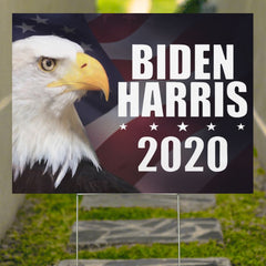 Eagle American Biden Harris Yard Sign Vote Biden Fpr 2020 President