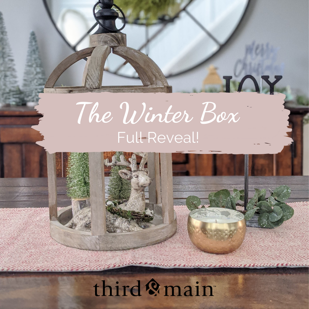 The Winter Home Decor Box 2020 Full Reveal