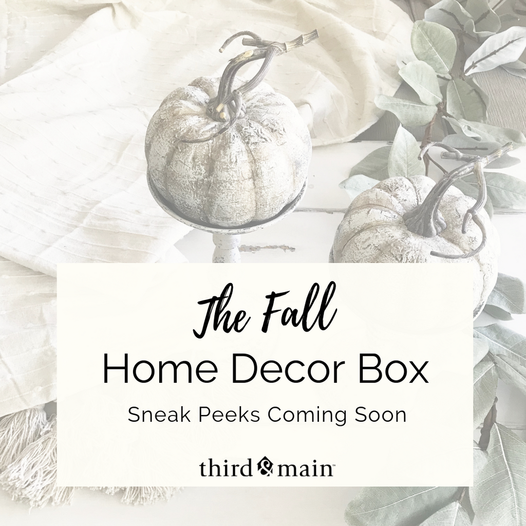 The Fall Home Decor Box Sneak Peeks Are Almost Here!