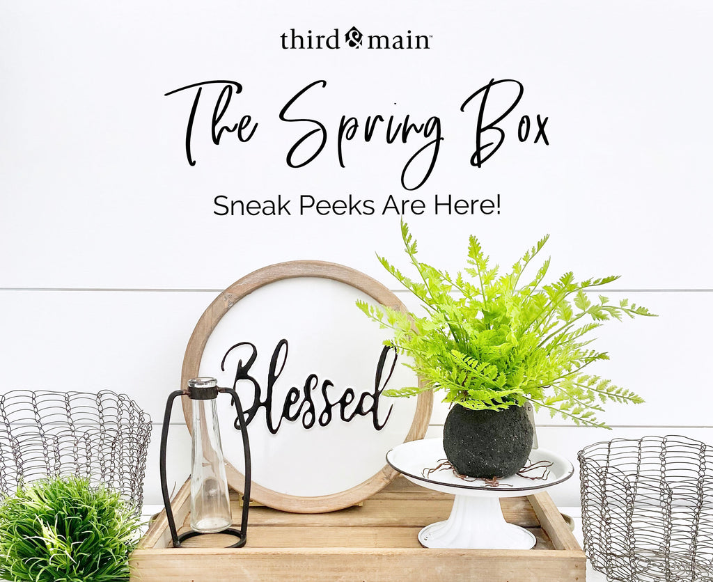 The Spring Home Decor Box Sneak Peeks Have Sprung!