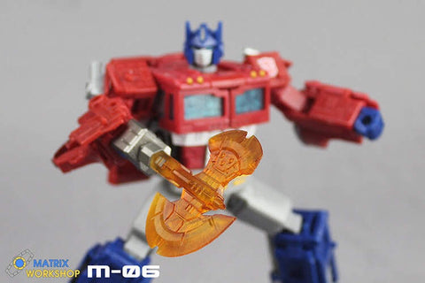 Matrix Workshop M06 M-06 WFC Siege SS-38 Optimus Prime(Voyage Grade)Energon Axe Weapon Set Upgrade Kit