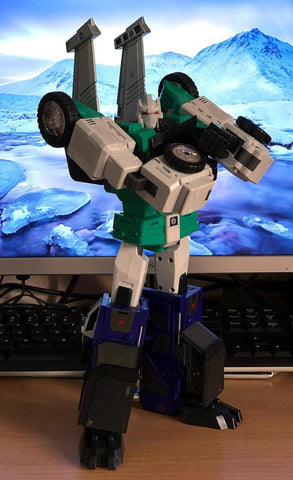 DX9 Toys D10G Hanzo (Sixshot) (G1 Retro Color, Green Chest) 27 cm / 10.5cm