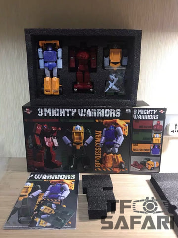 FinalVictory FV 3 in 1 Warpath Brawn Huffer G1 MP Final Victory 13cm / 5'