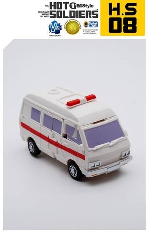 Mech Planet Hot Soldiers HS-08 HS08 Mini Ambulance (Ratchet) 10cm
