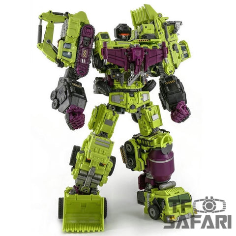 NBK Devastator Green TF Engineering Full Set 6 in 1 (GT-01 Devastator) 38cm