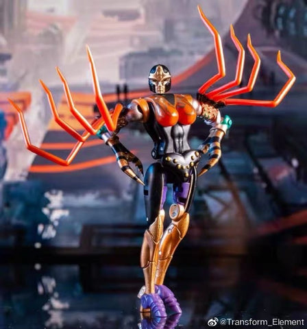 Transform Element TE MM001 TE-MM001 Blackarachnia (Legend Class) 8cm / 3.5""