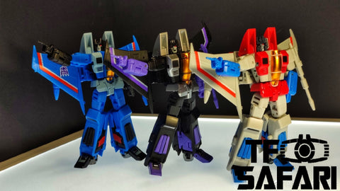 NA NewAge H13 H14 H15 H-13 H-14 H-15 Lucifer, Leviathan, Samael ( Starscream, Thunder Cracker, Skywarp ) New Age 9cm / 3.5""