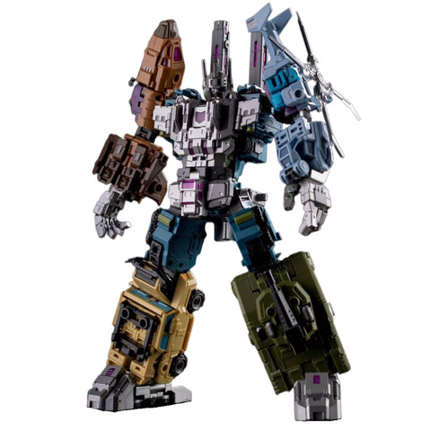 【Incoming, Loose Pack】Pocket Toys PL-0 PL0 PT-05 PT05 Ruiner B. 5 in 1 (Bruticus, KO Iron Factory EX-22 EX22 War Giant) 28cm