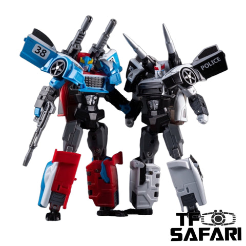 TT Hongli Model HF-01 HF01 Patrol (Prowl) / HF-02 HF02 Speed (Smokescreen) 2 in 1 set 14cm / 5""