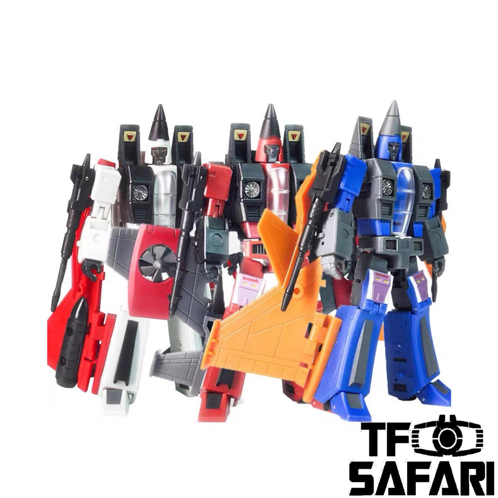 Magic Square MS-Toys MS-B30 MSB30 Jet Fighter Team (Thrust, Dirge, Ramjet Legends Class) 3 in 1 set 10cm, 4""
