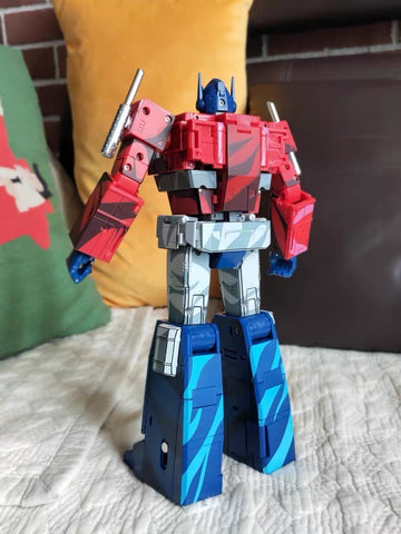 Transform Element TE-01 TE01 Masterpiece Optimus Prime (MP Size, MP10, MP44, 2 head sculpts ) Cell Shaded Version Reissue 23cm / 9""