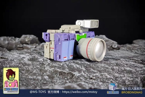Magic Square MS-Toys MS-B29 MSB29 Video Team (Reflector Legends Class) 3 in 1 set 10cm, 4""