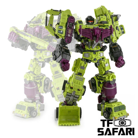 【Loose Pack】JB Jinbao OS Combiner Devastator (Oversized GT-01 GT01 Gravity Builder) 6 in 1 Set 45cm / 18""