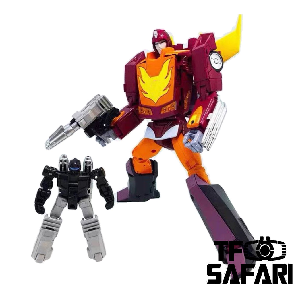 4th Party Takara Tomy MP40 MP-40 Target Master Hot Rodimus 19cm / 7.5""