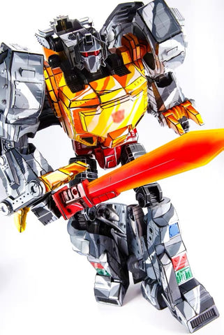 NB No-Brand MP-08CS MP08CS King Grimlock Rexius Prime (Oversized MP-08 Cell shaded, Non-Official Version)