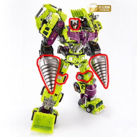 JB Jinbao Devastator Upgrade Kit (Oversized GT-01 GT01 Gravity Builder) Loose Pack