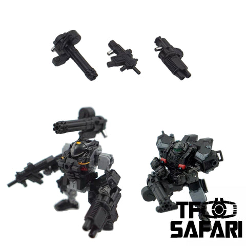 【Pre-Order】Emonster EM-03 3 in 1 Gatling gun Weapon set for Diaclone Power Suit Diaclone Upgrade Kit