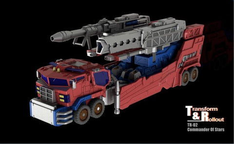 Transform and Rollout TR-02 TR02 Commander of Stars (Siege Galaxy Upgrade Optimus Prime) w/ Convoy 24cm / 9.5mm