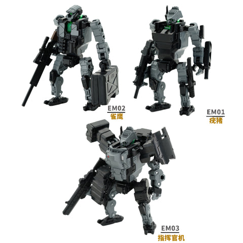 Emonster EM01/EM02/EM03 Power Suit (Diaclone line size) 1:60