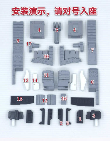 Ratchet Studio ROS-014 Gap Filler and Leg Extensions for WFC Siege Galaxy Convoy Upgrade Kit