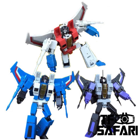 Magic Square MS-Toys MS-B26 MSB26 Tornado Team (Starscream, Thundercracker, Skywarp Legends Class) 3 in 1 set 10cm, 4""