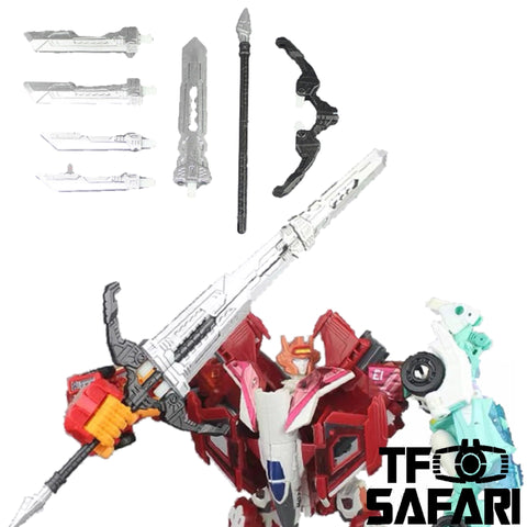 【Pre-Order】Matrix Workshop M-09B M09B Melee Weapon Set (Sword & Bow) for Female Autobots Combiner Orthia (Elita One, Moonracer, Lancer, Firestar, Greenlight ) Upgrade Kit