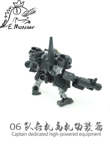 【Pre-Order】Emonster EM-06 8 in 1 Weapon set for Captain Diaclone Power Suit Diaclone Upgrade Kit