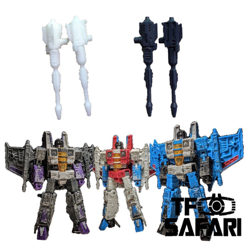 【Incoming】GX-03 Null Rays for WFC Siege Decepticon Seekers (Starscream / Skywarp / Thunder Cracker)  Weapon Set