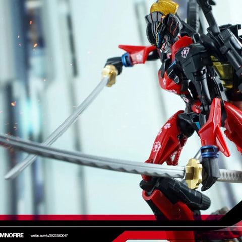 Dr.Wu DW-P34  Double Pole Double Katanas (Golden Hilt) for Springer / Windblade Dr Wu Upgrade Kit