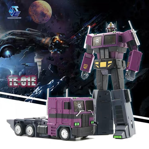 Transform Element TE-01E TE01E Masterpiece Optimus Prime (MP Size, MP-10SG MP10SG ) Shattered Glass SG Version (Purple) 23cm / 9""