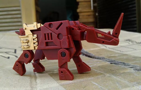 【Incoming】Keith's Fantasy Club KFC Toys CST-01 CST01 Rhinohorn (Ramhorn) Justice Ver. (G1 Red) Cassettes