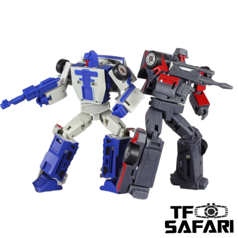 Magic Square MS-Toys MS-B14 / MS-B15 Beat Back & Collide ( Breakdown & Wildrider Stunticon, Menasor ) 2 in 1 set 10cm / 4""