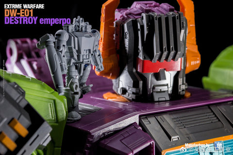 Dr.Wu & Mechanic Studio Extreme Warfare DW-E01 Destroy Emperpo (Galvatron) / DW-E02  Monitor Officer (Soundwave) Legends Class fit to Earthrise Titan Class 2 in 1 set 6cm / 4.6""