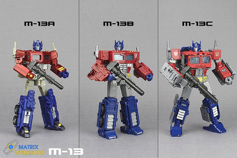 Matrix Workshop M13 M-13 Ion Blasters D / V / L Class for Optimus Prime Weapon Set Upgrade Kit
