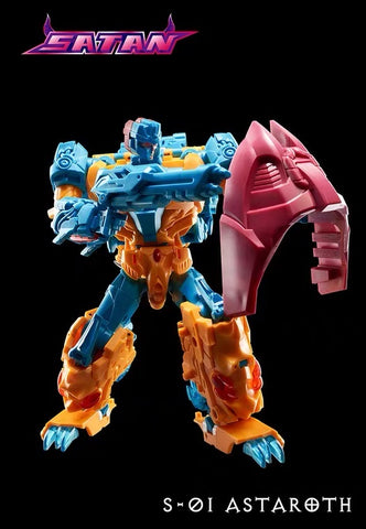 TFC Toys S01 S-01 Astaroth of Sartan Combiner(Twinstrike of Abominus)  16cm / 6.3""