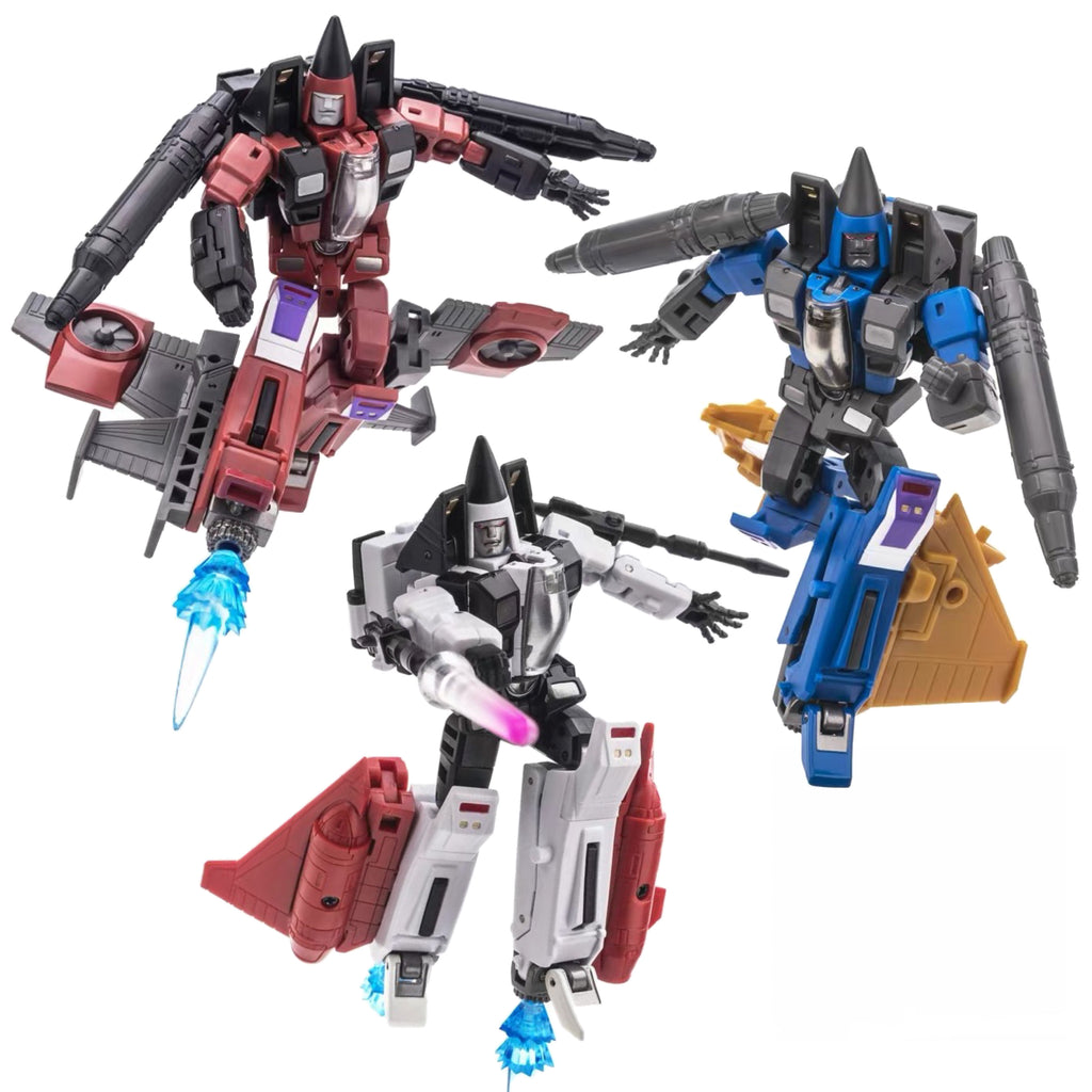 NA NewAge H16 H17 H18 H-16 H-17 H-18 Beelzebul, Mammon, Mephisto (Thrust, Ramjet, Dirge) 3 in 1 set New Age 9cm / 3.5""
