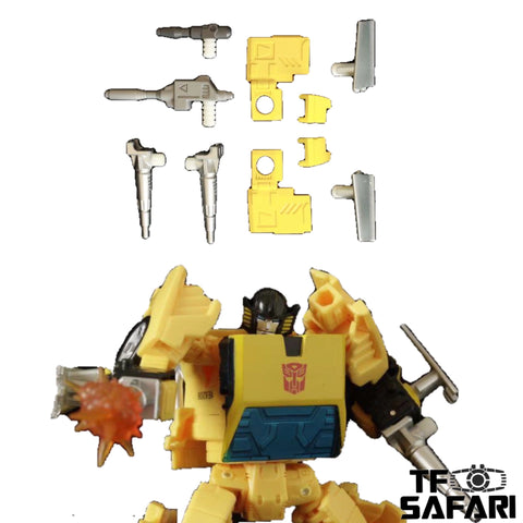 【Pre-order】ZXB-04 Upgrade Kits + Weapons for WFC Earthrise Sunstreaker Upgrade Kit (Painted)