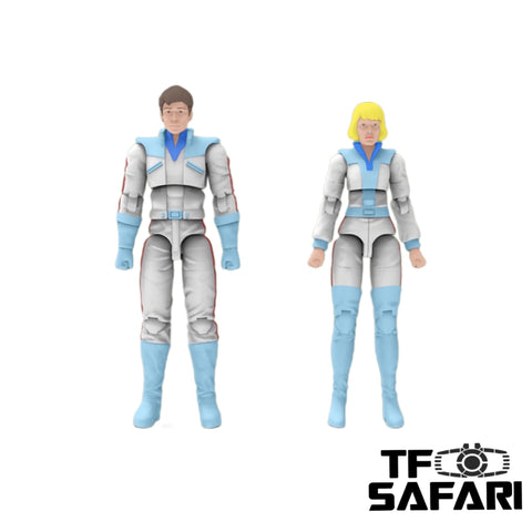 【Pre-order】Warriors Workshop WWS-C01 Scientist Couple (Spike and Carly) 2 in 1 Set 1/30 scale Upgrade Kit 6cm / 2.4""