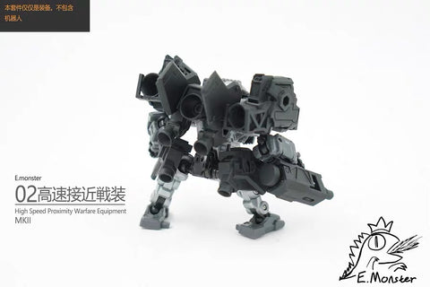 【Pre-Order】Emonster EM-02 6 in 1 Armor and Weapon set for Diaclone Power Suit Diaclone Upgrade Kit