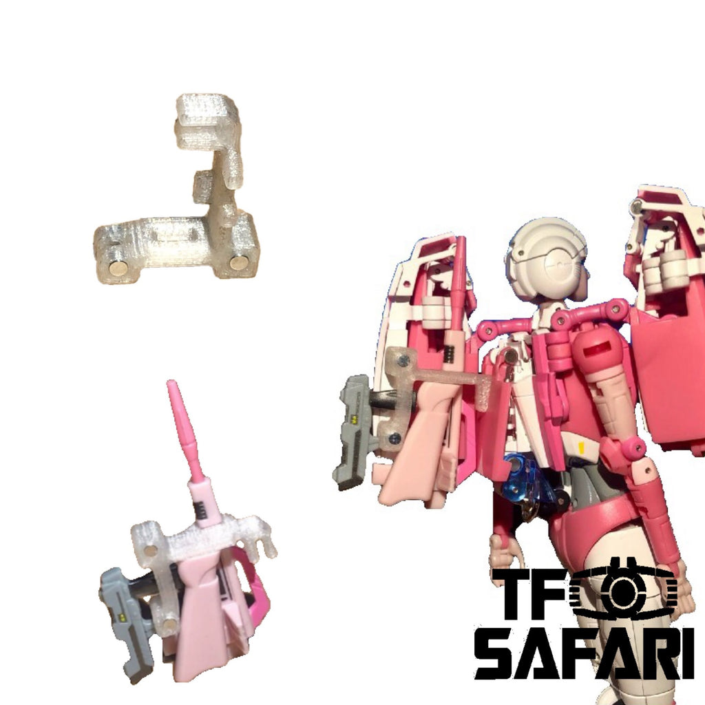【MTO】SKW-02 weapon rack on back for Fanstoys FT24 FT-24 Rogue (Arcee)