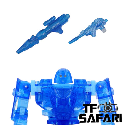 Matrix Workshop M20B M-20B WFC Siege Deluxe Mirage (Blue Transparent Version) Weapon Set Upgrade Kit