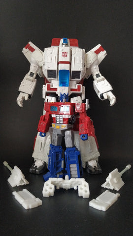Shockwave Lab SL-56 SL56 Combine Kits for WFC Siege Jetfire and Optimus Prime Upgrade Kit.