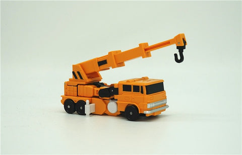 Papa Toys PPT02 PPT-02 PPT03 PPT-03 Fire Engine + Crane (Inferno + Grapple) 2 in 1 set 11cm / 4.5""