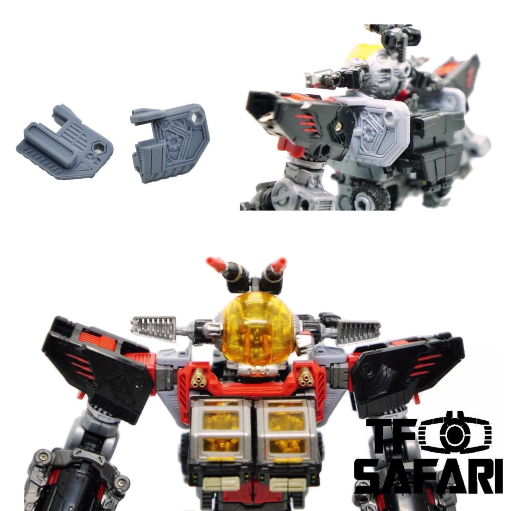 FEITE FTDC-02 Shoulder Upgrade Kits for DA-29 / DA-37 Battle Buffalos Diaclone Upgrade Kit