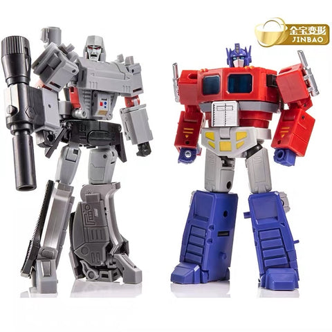 【No Original Box】JB Jinbao Devastator Pocket Size DF04 Optimum Warrior & DF05 Destroy Emperor (Deluxe Optimus Prime & Megatron) 12.5cm