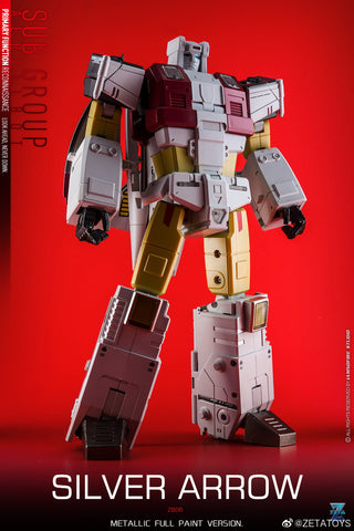 "【Pre-Order】Zeta Toys ZB-06 ZB06 Superitron / Kronos Combiner ( Aerialbots , Superion) Metallic Version Gift Set of 5 Figures 55cm (22"")"