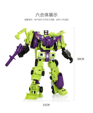 NB No-Brand IDW Combiner Wars CW Devastator 6 in 1 Set (Minified Non-Official Version, No Box) 32cm / 12.5""