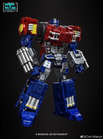 【Incoming】Civil Warrior CW-01 CW01 General Grant (Dreamwave The War within OP Optimus Prime ) 25cm / 10mm